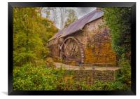 The Water Wheel at Dyfi Furnace., Framed Print