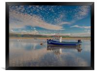 Reflections on the Dyfi Estuary at Aberdovey., Framed Print