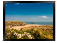 Broadhaven Beach, Pembrokeshire., Framed Print
