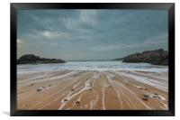 Pebbles on the beach at Rotherslade bay., Framed Print