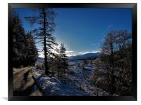 Winters day in glen Muick                     , Framed Print