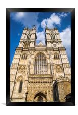 Westminster Abbey in London, Framed Print