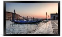 Venice Glow , Framed Print
