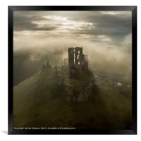 Corfe Castle, Framed Print