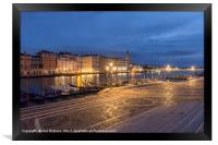 Looking Down the Grand Canal, Framed Print
