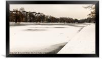 Icebound Canal, Framed Print