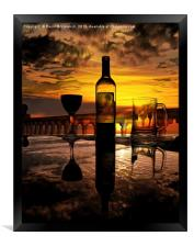 Sunset relaxation, Framed Print