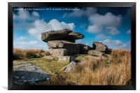 Dartmoor  Tor, Princetown Dartmoor, Framed Print
