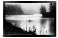 Early Morning Rowers on River Dart, Framed Print