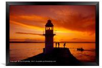 Sunset Brixham Breakwater, Framed Print