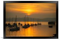 Outer Harbour Sunset, Framed Print