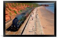 The 'Torbay Express' at Dawlish, Framed Print