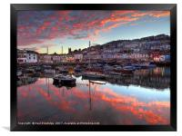Brixham Sunset in August                       , Framed Print