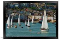 Classic Yachts at Dartmouth, Framed Print