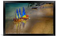 Sailing Dinghies at East Portlemouth, Framed Print