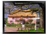 Devon Cottage, Framed Print