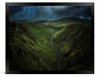 Storm over Winnats Pass, Framed Print