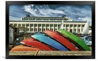 Rowboats at Museum of History and Industry, Framed Print