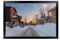 The ancient street of the Siberian town, Framed Print