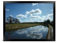 Cloud Reflections, The Grand Union Canal, Framed Print