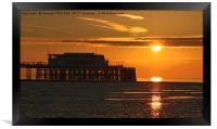 Sun Rise at Worthing Pier  , Framed Print