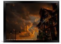 Twilight on King Street, Framed Print