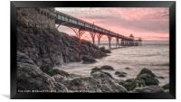 Sunset Clevedon Pier, Framed Print