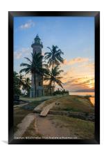 Sunrise Galle Fort lighthouse, Sri Lanka, Framed Print