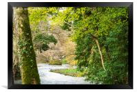 Looking at Respryn Bridge from the River Bank, Framed Print
