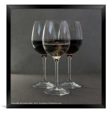three glasses of wine, Framed Print