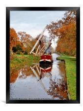 Llangollen Canal Wrenbury in Autumn, Framed Print