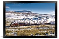 Steam and Snow, Framed Print