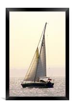 Solent Yacht, Framed Print