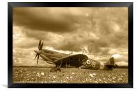 Spitfire Mk IXB, Framed Print