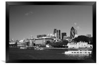 City of London Skyline in Black and white, Framed Print