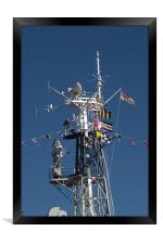 Radio Mast of HMS Belfast, Framed Print