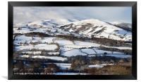 Tor Y Foel, Allt Lwyd and Twyn Du in Winter., Framed Print