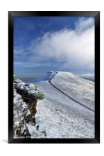Pen y Fan in winter, Brecon Beacons National Park., Framed Print