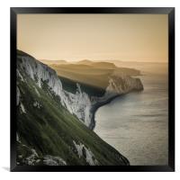 Summer sunrise on the Jurassic Coast in Dorset, Framed Print