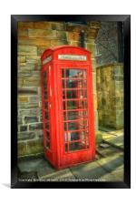 A Red Telephone Box, Framed Print