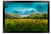 Llianberis landscape, Framed Print
