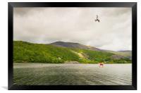 THE MAGICAL LLIANBERIS LAKE, NORTH WALES., Framed Print