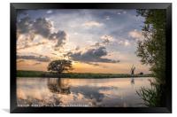 Reflection - River Thurne, Framed Print