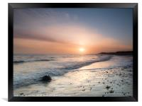 Sunrise at Happisburgh, Framed Print