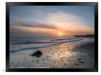 Sun Up Happisburgh Beach, Framed Print