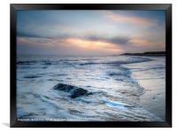 Dawn on Happisburgh Beach, Framed Print