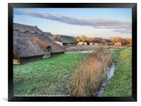Thatched Boat Houses at Hickling, Framed Print