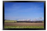 Trains in the Landscape Black Prince NNR, Framed Print