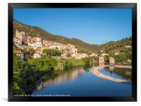 Roquebrun France, Framed Print