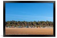 Huts on Wells Beach , Framed Print
